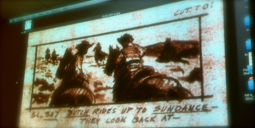 An original storyboard from 'Butch Cassidy & The Sundance Kid (1969)