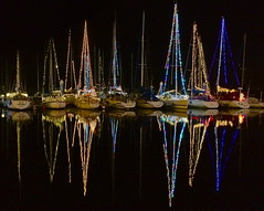 Winter Scene at Shimizu Harbor (only1tanuki) Tags: reflection japan night sailboat geotagged lights boat explore  iphone winterscene shizuokaprefecture  explored shimizuport shizuokacity    shimizuward 24 shimizuharbor