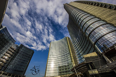 The Circle, Milano - Porta Nuova (alex.gube) Tags: new winter sky italy house milan building window glass architecture clouds skyscraper canon office december day cloudy lombardia hdr portagaribaldi urbam unicredit portanuova agphotography 550d pseudohdr rememberthatmomentlevel2 rememberthatmomentlevel3 pelliclarke