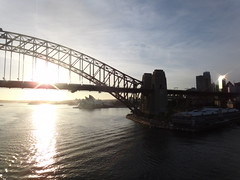 Pacific Pearl Adventure (kelliejane) Tags: cruise vacation holiday sunrise po sailaway sydneyharbour sydneyoperahouse sydneyharbourbridge pocruises pacificpearl kelliejane