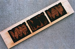 08950005-16 (jjldickinson) Tags: wood print cherry concrete parkinggarage carving longbeach card printmaking olympusom1 woodblock fujicolorsuperiaxtra400 mokuhanga laserengraving promastermcautozoommacro2870mmf2842 promasterspectrum772mmuv kilroyairportcenter roll395