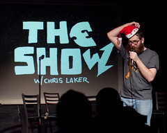 Mike Lawrence explains the War on Christmas (TheeErin) Tags: show christmas city mike hat creek comics island lawrence war comedy long comic unitedstates stage comedian cave mic santahat longislandcity standup the mikelawrence standupcomedy standupcomedian creekcave