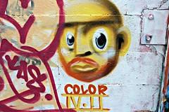 coLor (8333696) Tags: park street red portrait urban streetart color art yellow wall tin graffiti mural paint artist sheffield can spray mount skate spraypaint graff aerosol pleasant colorart colorarti