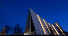The Arctic Cathedral, Tromso, Norway (7) (tmv_media) Tags: pictures trip winter church norway night photo december cathedral image top sony picture pic images arctic norwegian photograph lit toms 2012 tromso troms northernmost troms northernnorway tromsya tromssa romsa northofthearcticcircle tomvooghtphotography tomvooght slta77v