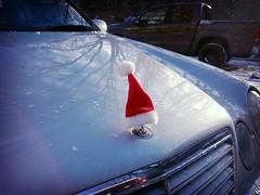Merry Christmas (Alex-Skywalker) Tags: santa christmas hat weihnachten mercedes navidad felix hamburg noel weihnachtsmann cap e merry mtze eklasse frhliche flickrandroidapp:filter=rome