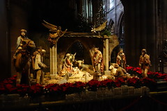 the nativity scene in Freiburg Cathedral (BZK2011) Tags: cathedral freiburg minster 2012 nativityscene krippe weihnachtskrippe freiburgermnster