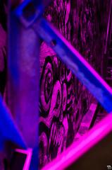 Jour 345 (Sebastien Morin) Tags: street pink blue art metal wall night composition project lights graffiti downtown montréal son led bleu québec lumiere sound 365 nuit quartier projet spectacle foufs electrique foufoune mtlenlum