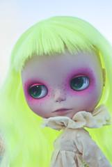 Back from the Spa ( pixiepoo ) Tags: robot doll neon blythe custom milky ebl