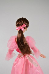 Belle Doll :: Winter Outfit (sumisu_2110) Tags: christmas pink winter red classic film beauty outfit doll dress princess bell disney collection beast ribbon cloak simba disneystore disneyprincess disneydoll