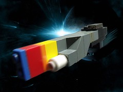 "Langdon Corporation BC-1 Heavy Tonnage Frigate ""The Shortbow"" (Prologue Part 1) (Marc-Alecai) Tags: lego space photoshopped plastic scifi spaceship frigate 52"