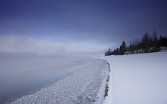 Jackson Lake Shoreline (jmdarter) Tags: winter snow grandtetons