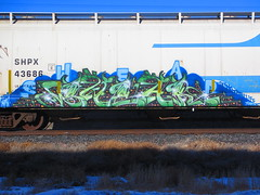 Swear ANT (magpiee) Tags: train graffiti ant blues greens hopper swear terms gtl shpx allnation cool3d