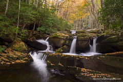Middle Prong of the Little River (Dan Sherman) Tags: autumn trees mountains fall leaves creek river rocks tennessee smoky cascade smokies smokymountains greatsmokymountains greatsmokymountainsnationalpark greatsmokies