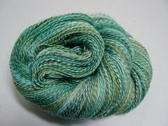 Handspun Jewelled Seas sock yarn (DebbieBHandmade) Tags: sea green yarn spinning emerald handspun sockyarn scf debbieb handspinning handspunsockyarn southerncrossfibre