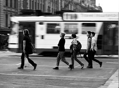 Day (Nuxis [Davide]) Tags: city people bw sony tram australia melbourne victoria a77 yarratram alpha77