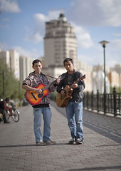 Musicians Playing Guitar In The Street, Astana. Kazakhstan (Eric Lafforgue) Tags: street people music vertical musicians standing outside outdoors person vanishingpoint exterior capital fulllength guitars capitale rue centralasia kazakhstan guitarists kazakh personne humanbeing easterneurope musique astana musicinstruments dehors musiciens debout exterieur guitares pointdefuite enpied vueexterieure guitaristes photoenpied instrumentsdemusique etrehumain akmola akmolinsk kz9390
