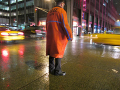 I might as well go home... (Robert Saucier) Tags: street nyc newyorkcity orange usa building rain yellow architecture night jaune pavement manhattan cab taxi pluie noflash explore rue nuit policeman policier tatsunis img2292 explorejan142013466