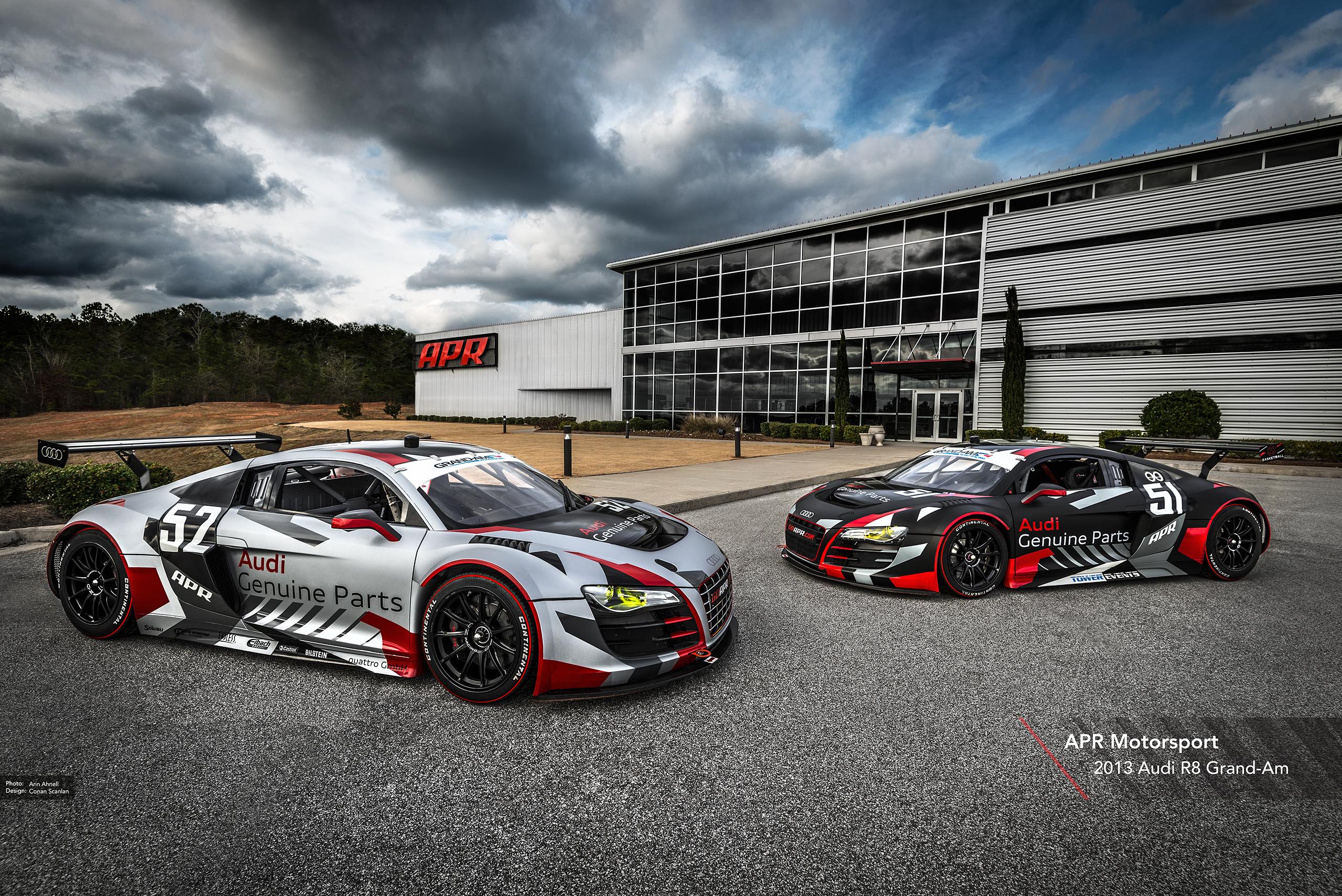 APR Motorsport 2013 R8 Grand-AM Race Liveries Apr