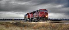 Canadian Pacific train (Images by MK) Tags: railroad train canon pacific engine rail rr iowa canadian railcar engines traincar locomotive canadianpacific cp locomotives tankers tankcar ossian photomatix photomatixpro t2i ossianiowa