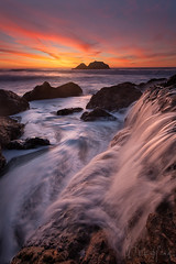 The Waterfall Effect (Willie Huang Photo) Tags: ocean sf sanfrancisco california city sunset seascape nature water landscape coast waterfall sand pacific scenic sutrobaths sutro ☆thepowerofnow☆ plusgooglecomu0112254652753410449153