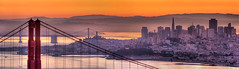 Hawk Hill Pano (mikeSF_) Tags: ocean california bridge sunset panorama orange tower mike sunrise landscape photography oakland golden bay gate san francisco downtown purple pacific pentax fort district pano mason marin hill panoramic transamerica yerba sausalito financial telegraph coit k5 buena oria photomatix