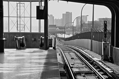 Yorkdale Southbound (Keeping Record) Tags: world life road city b winter urban blackandwhite bw toronto ontario canada building strange lines train buildings subway cool interesting nikon different traffic random ttc awesome traintracks rail odd unusual subwaystation traintrack yorkdale subwaytracks railtransit d90 torontoontariocanada ttcsubway 2013 yorkdalesubway yorkdalettc
