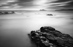 From Rock to Island (Ger208k) Tags: longexposure ireland blackandwhite dublin seascape clouds island rocks horizon malahide irelandseye flickrsbest bigstopper gerardmcgrath