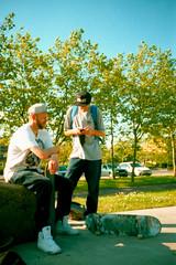 Vance & Chewy (-ciaran) Tags: summer film sunshine point lomo lca xpro lomography shoot crossprocess cosina vegetation greenery lush russian zenith provia400 colourshift contraast perfectblues