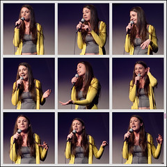 Lauren Vino Tells a Joke | Nine Expressions (TheeErin) Tags: city lauren up yellow collage creek square island stand funny comedy long performing queens comedian expressive cave vino the humanistic standupcomedian laurenvino