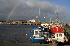 Arklow Harbour (Chris*Bolton) Tags: ireland sea sky water clouds wednesday boats rainbow afternoon harbour sunny scene wicklow arklow blueribbonwinner coth supershot bej abigfave arklowharbour saariysqualitypictures