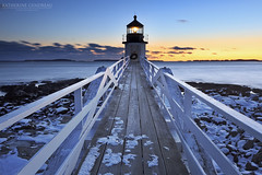 To the Point (katie47n) Tags: winter sunset snow cold evening dusk maine february portclyde canon1022 lee09gnd marshallpointlighthouse mainephotography canon7d mainelandscapephotography snowylighthouse kather