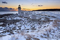 Winter's Light II (katie47n) Tags: winter sunset snow cold evening dusk maine february portclyde canon1022 lee09gnd marshallpointlighthouse mainephotography canon7d mainelandscapephotography snowylighthouse katherinegendreauphotography
