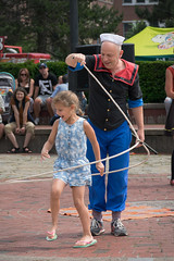 Buskers On The Bay 2016: Can't Catch Me (Adam Curran) Tags: new people saint john outdoors costume child outdoor performance brunswick newbrunswick busker nikkor performer popeye saintjohn 2016 lasoo nbphoto nikond3300 d3300 buskersonthebay