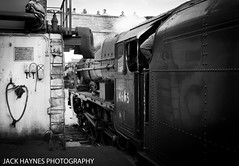 Coming off shed (Jack Haynes Photography) Tags: west coast railway trains steam dorset railways swanage scots preservation guardsman 46115