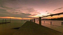 The Light Between Oceans (Anna Kwa) Tags: longexposure travel light sunset sea sky water nikon dusk earth path jetty memories round d750 always oceans remembrance fishingvillage muar inthebeginning westmalaysia my paritjawa seanredmond afszoomnikkor1424mmf28ged annakwa thelightbetweenoceans mlstedman