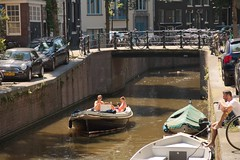 Boating Around The Canals of The Jordaan (elhawk) Tags: amsterdam jordaan canal boat candid
