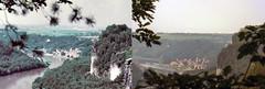 Vergleichsfoto Bastei-Ausblick 1987 und 2016 (Veit Schagow) Tags: bastei rathen elbe vergleichsfoto comparison elbsandsteingebirge saxonyswiss timeline zeitlinie zeit