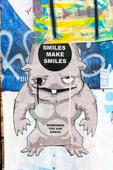 Smiles Make Smiles (Thomas Hawk) Tags: america california mission missiondistrict sanfrancisco usa unitedstates unitedstatesofamerica graffiti