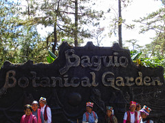 Baguio Botanical Garden (lukedrich_photography) Tags: sony dscw55 sonydscw55 hdr philipines   pilipinas     republikangpilipinas republicofthephilippines asia southeast southeastasia pacific island baguio botanical garden igorotvillage cordillera history culture entrance art design carving tourist sign signage