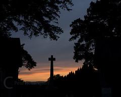 Broadclyst Church gate (petehem) Tags: broadclyst church cross sunset devon hemington