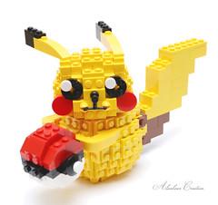 LEGO Pokemon - Pikachu (alanboar) Tags: pikachu lego moc pokemon ball