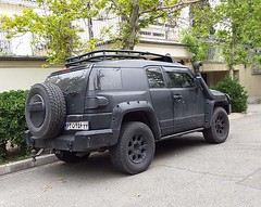 Black FJ Cruiser (Kombizz) Tags: 102159 kombizz tehran iran 2016 1394 mobilephonetaking mobilephonecapture wheels car vehicle fjcruiser blackfjcruiser toyotafjcruiser toyota 63n456 wurth fourwheeldrive licenceplate numberplate shahrakeghods shahrakegharb