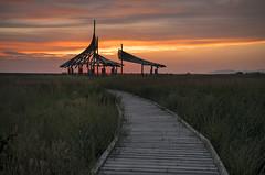 (Irwin Scott) Tags: great salt lake shorelands preserve layton utah sunset sky moody cloudy grasslands walkway woodenpath way woodpath lookout observatory