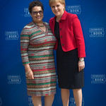 Jackie Kay with Nicola Sturgeon