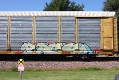 Each (quiet-silence) Tags: graffiti graff freight fr8 train railroad railcar art each autorack