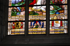 Ghent coats of arms (quinet) Tags: 2014 belgium bruges ghent glasmalerei wappen blason coatofarms stainedglass vitrail antwerp flanders