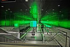 Green Hamburg underground station (Tobi_2008) Tags: hamburg ubahn underground deutschland germany allemagne germania metro supershot