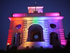 Prague Pride 2016 (Institute of Lighting Design Prague) Tags: praguepride isd instituteoflightingdesign institutsvtelnhodesignu usembassy gloriette pride week
