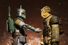 Boba Fett + The Sarlacc 58 - A Quiet Moment (Mac Spud) Tags: bobafett sarlacc starwars star wars thegreatpitofcarkoon stomach alien xenomorph facehugger kane humour