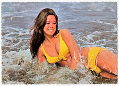 Careful What You Wish For (Truus, Bob & Jan too!) Tags: pinup bikini girl woman sweet sexy beachwear swimwear bathingsuit maillot vintage postcard carte postale cartolina postkarte tarjet postal postkaart briefkarte briefkaart ansichtkarte ansichtkaart swimming summer swimsuit beach amag yellow